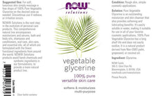 Load image into Gallery viewer, Now Foods, Solutions, Vegetable Glycerine
