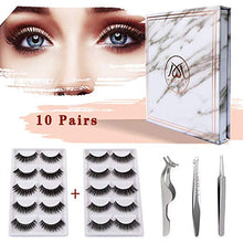 Load image into Gallery viewer, MAGEFY 10 Pairs 2 Styles Fake Eyelashes Reusable