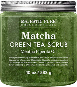 Matcha Green Tea Body Scrub for All Natural Skin Care
