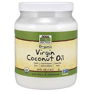 Now Foods, Real Food, Organic, Virgin Coconut Oil, 12 fl oz (355 ml)
