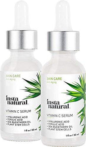 Vitamin C Serum Duo - 100 Days of Age Defying Benefits, With Hyaluronic Acid & Vitamin E, Brighten & Defend, Anti-Aging, Wrinkle Reducer & Sun Damage