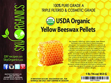 Load image into Gallery viewer, Sky Organics, Organic, White/Yellow Beeswax Pellets