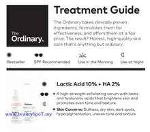 Load image into Gallery viewer, The Ordinary Lactic Acid 10% + Ha 2%