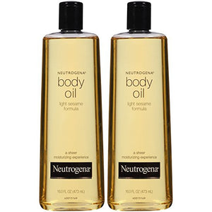Neutrogena Lightweight Body Oil for Dry Skin, Sheer Moisturizer in Light Sesame Formula, 16 fl. oz
