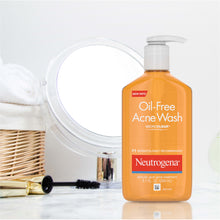 Load image into Gallery viewer, Neutrogena Oil-Free Acne Fighting Facial Cleanser with Salicylic Acid Acne Treatment Medicine, Daily Oil-Free Acne Face Wash for Acne-Prone Skin