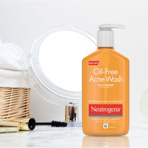 Neutrogena Oil-Free Acne Fighting Facial Cleanser with Salicylic Acid Acne Treatment Medicine, Daily Oil-Free Acne Face Wash for Acne-Prone Skin