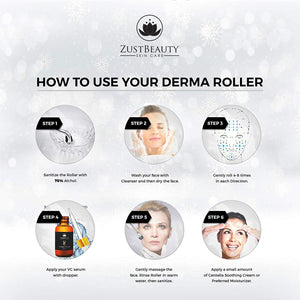 Derma Roller Kit 0.3MM and Vitamin C 25%