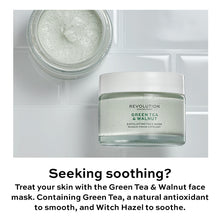 Load image into Gallery viewer, REVOLUTION SKINCARE  GREEN TEA AND WALNUT EXFOLIATING FACE MASK