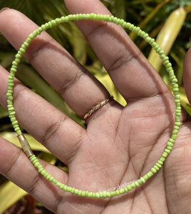 Lime Green Anklet