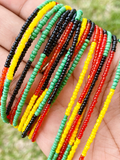 Rasta Color Block Removable Screw On Waist Beads