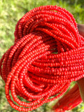 Red Removable Screw On Waist Beads - Eye Candy Adornments