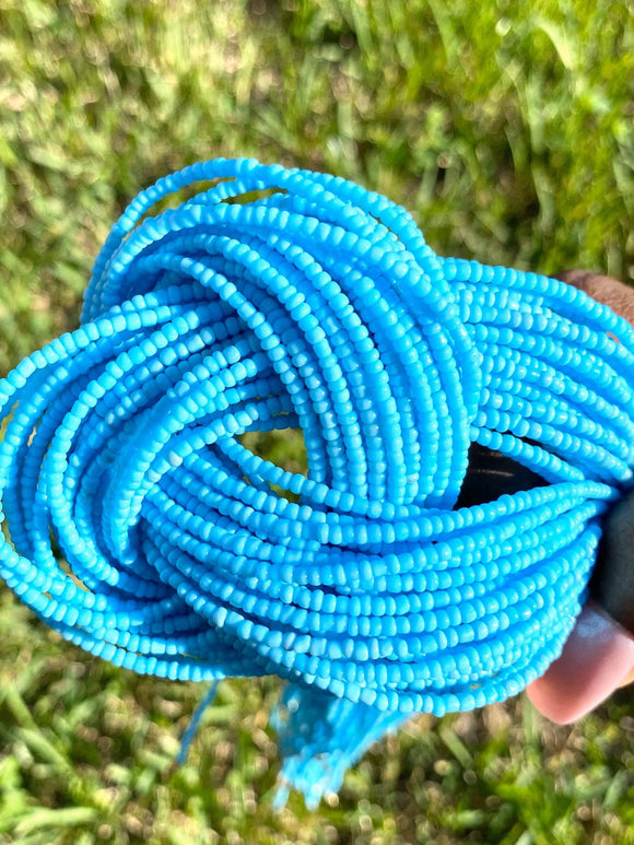 Baby Blue Removable Screw On Waist Beads