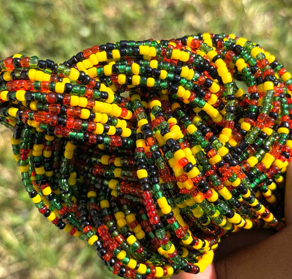 Rasta Removable Screw On Waist Beads
