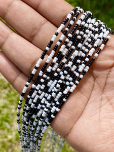 Black & White Removable Screw On Waist Beads