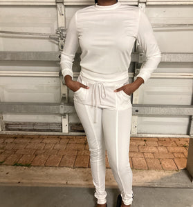White Two Piece Zipper Set - Eye Candy Adornments