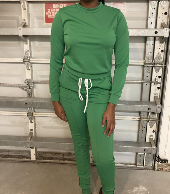 Green Two Piece Zipper Set - Eye Candy Adornments