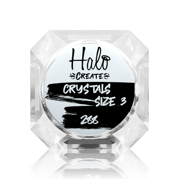 Halo Create - Crystals Clear AB size 3