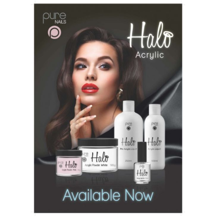 Pure Nails Halo Acrylic Salon Poster