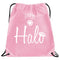Halo Nylon Drawstring Bag- Pink