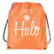 Halo Nylon Drawstring Bag- Orange