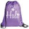 Halo Nylon Drawstring Bag- Purple