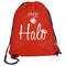Halo Nylon Drawstring Bag-Red