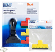 Kent Marine ProScraper II Glass or Acrylic Cleaning Tool w/ 3 Replacement Glass Blades