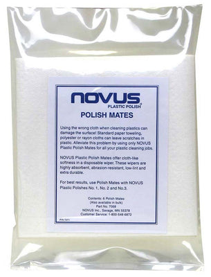 Novus Premium Polish Mates Microfilament Polishing Cloth - 6 Pack