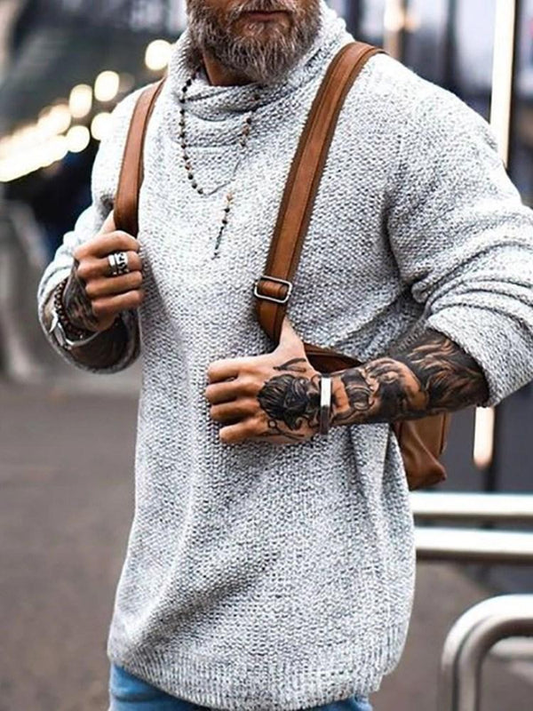 Standard Plain Casual Winter Sweater