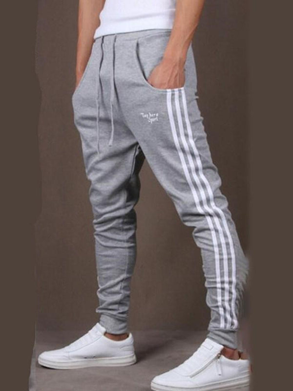 Print Stripe Casual Mid Waist Casual Pants