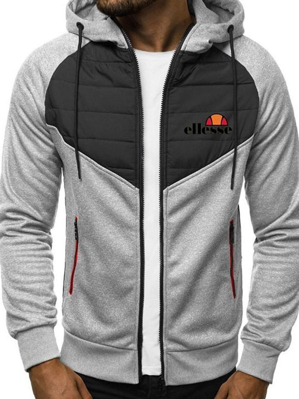 Thick Color Block Patchwork Winter Zipper Hoodies