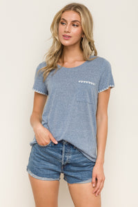 B319 DENIM EDGE DETAIL SLEEVE