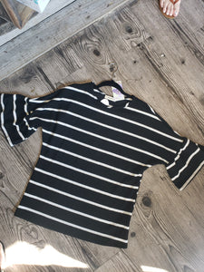 Isabella Bell Sleeve Striped Top