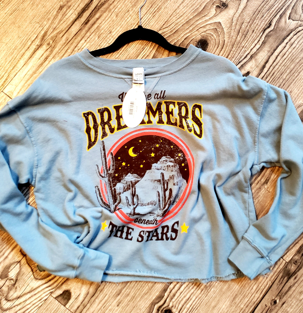 Dreamers Crop Sweatshirt