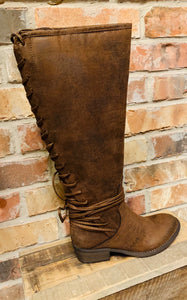 Marcelina High Boot- Brown
