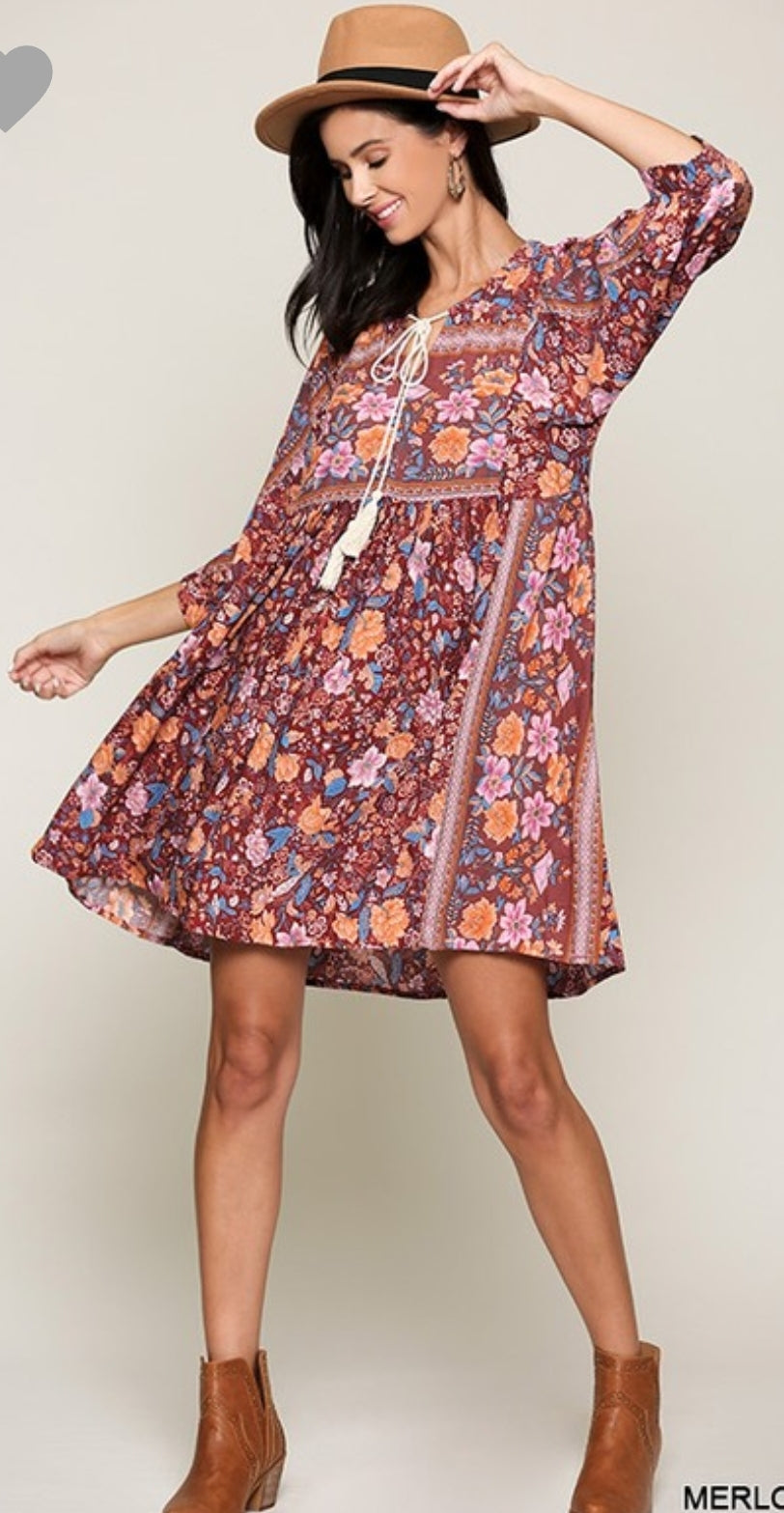 Chloe Floral Swing Dress