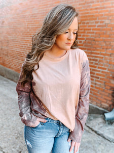Faded Plum Tie Dye Top