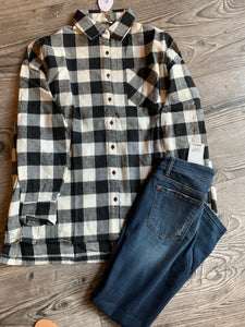 Plaid Suede Flannel