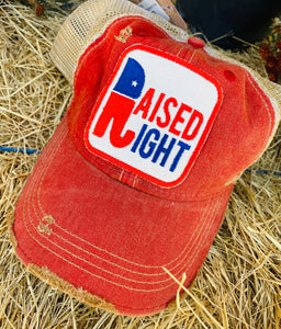 Raised Right Distressed Hat