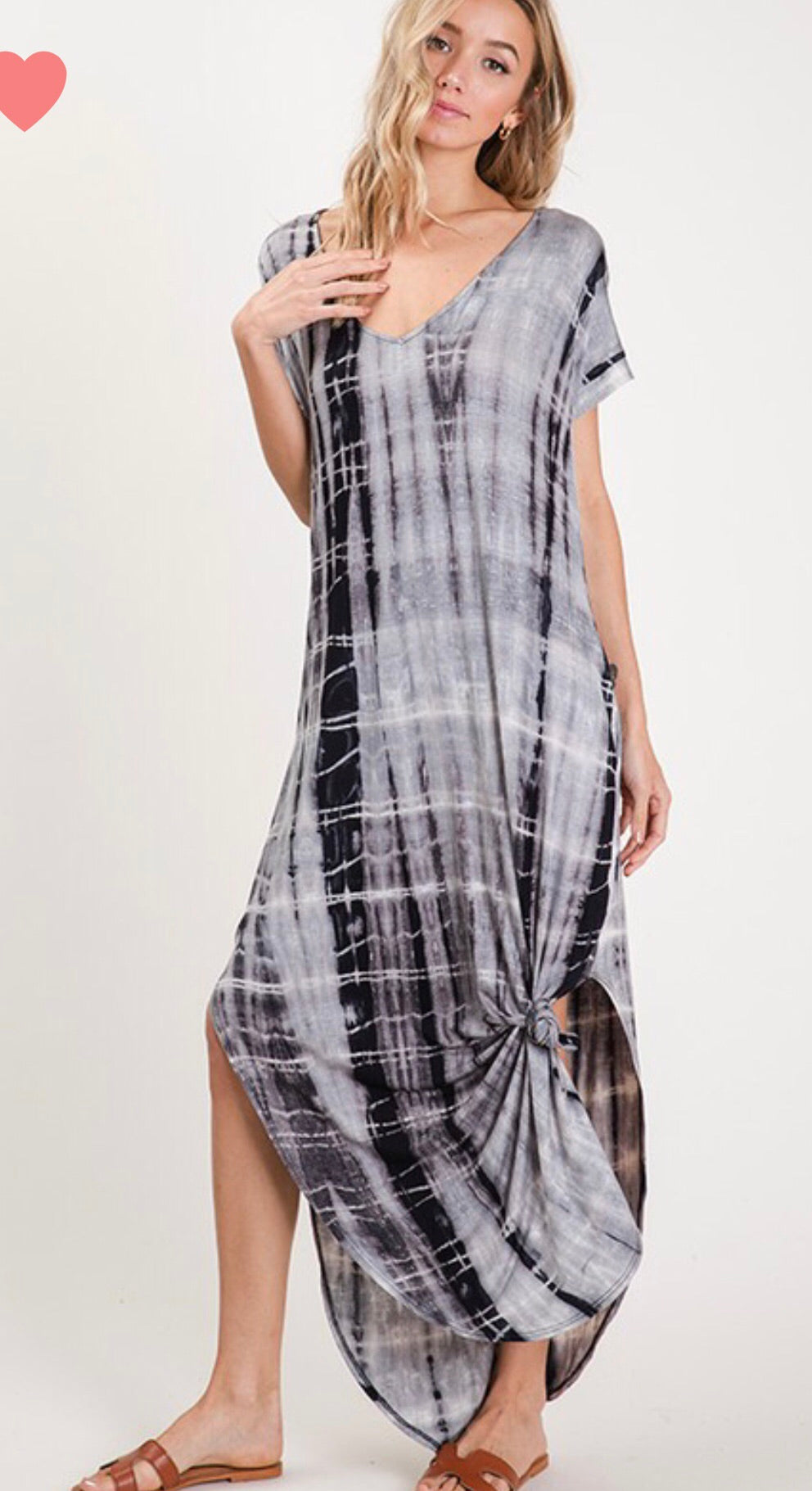 Char Grey Tie Dye Dress