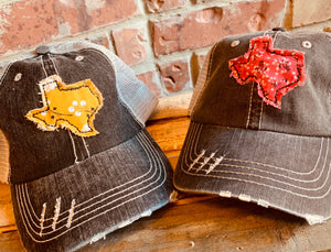 TX Distressed Hat w/ Patch