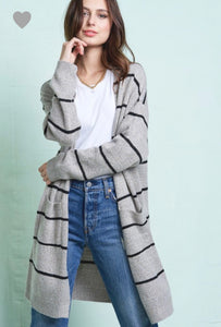 Heather stripe cardi