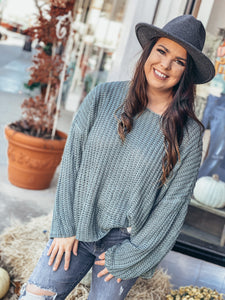 Sage Loose Sweater