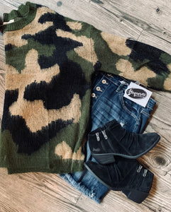 Eden Camo Sweater