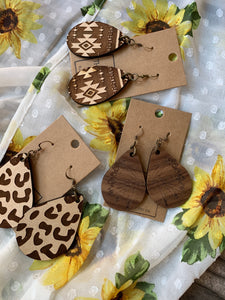 Wood Cut Earrings