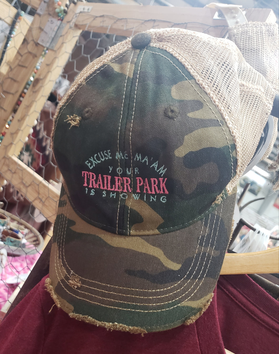 Trailer Camo Trucker Hat