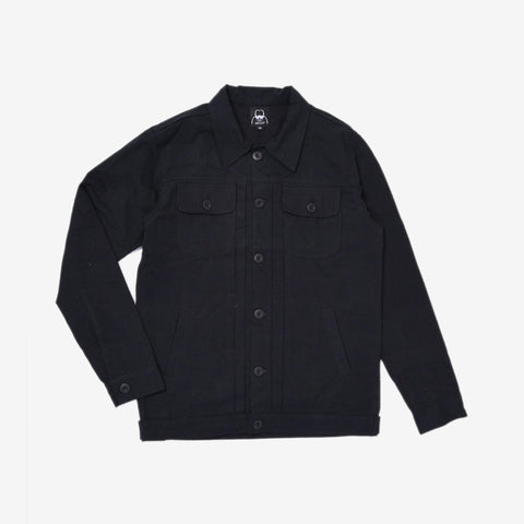 Rex Jacket Black Canvas Solid