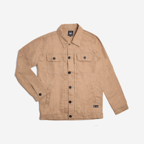 Rex Jacket Cream Canvas Solid