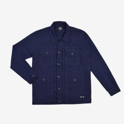 Alpina Jacket Navy Canvas Solid