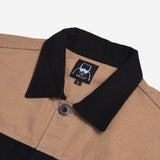 Rex Jacket Two Tone Black Cream Canvas Solid